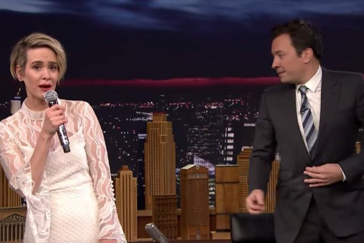 "Watch Sarah Paulson's Divine Rendition of Salt-N-Pepa's ""Shoop"""