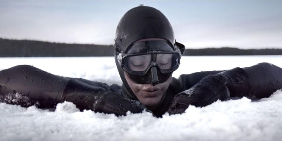 Watch Guinness World Record Holder's Stunning Free Dive Under Arctic Ice
