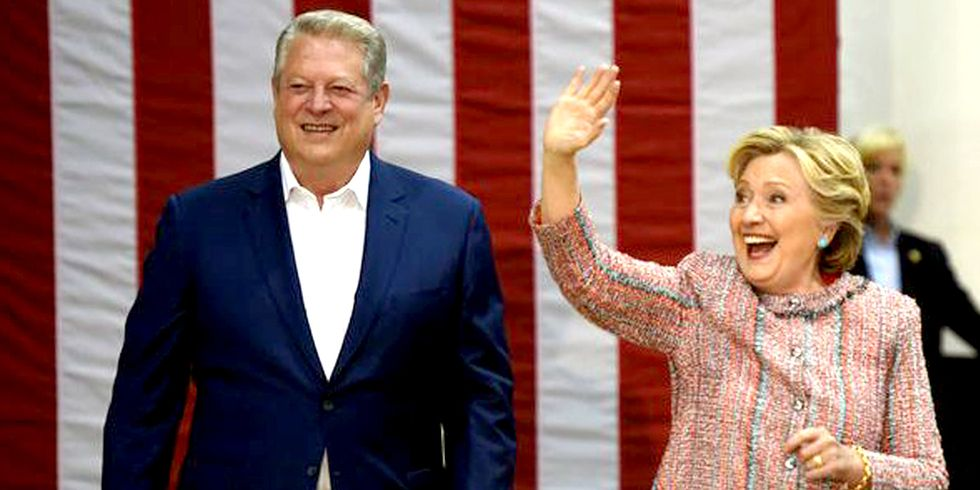 Gore Stumps for Clinton: Let's 'Finally Answer the Alarm Bells on the Climate Crisis'
