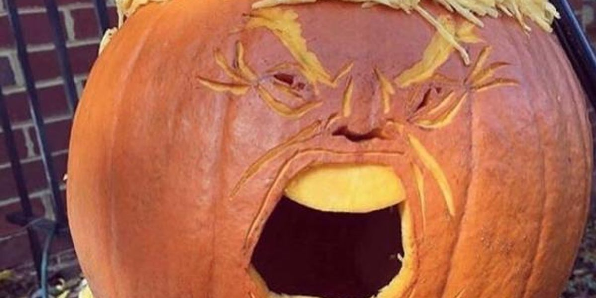 """""""Trumpkins"""" Are The Most Terrifying Halloween Decorations"""
