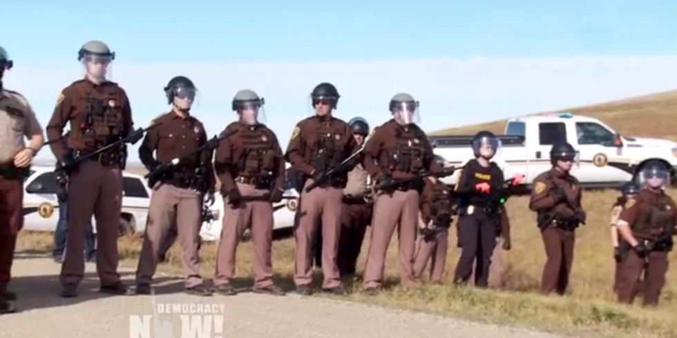 100+ Militarized Police Deployed Against Native American Water Protectors