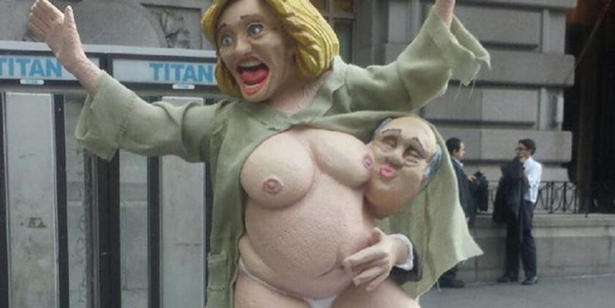 A Naked Hillary Clinton Statue Was Erected In Manhattan This Morning