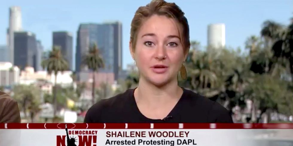 Shailene Woodley: Every Time We Allow Another Pipeline, We Prolong the Switch to Renewable Energy