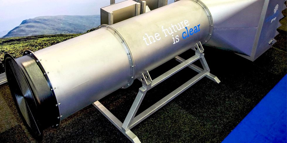 World's First Giant Outside Vacuum Cleaner to Filter Dirty Air