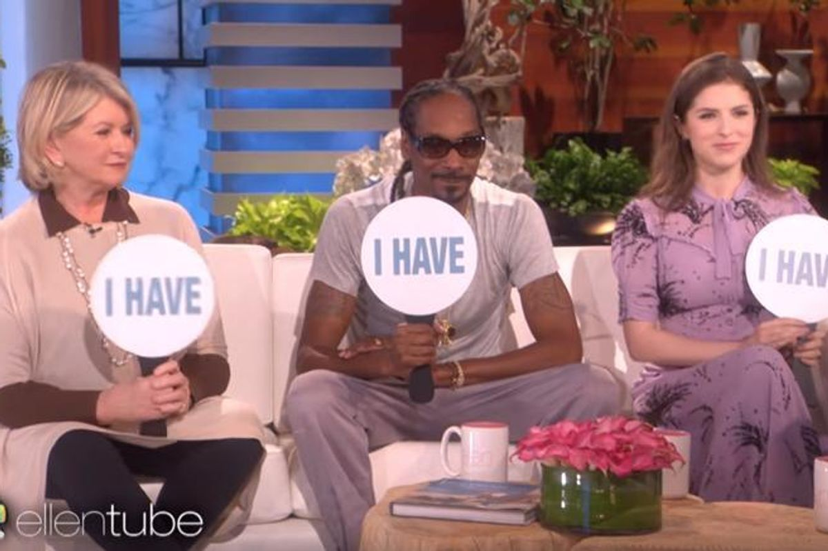 """Martha Stewart and Snoop Dogg Played """"Never Have I Ever"""" With Ellen"""