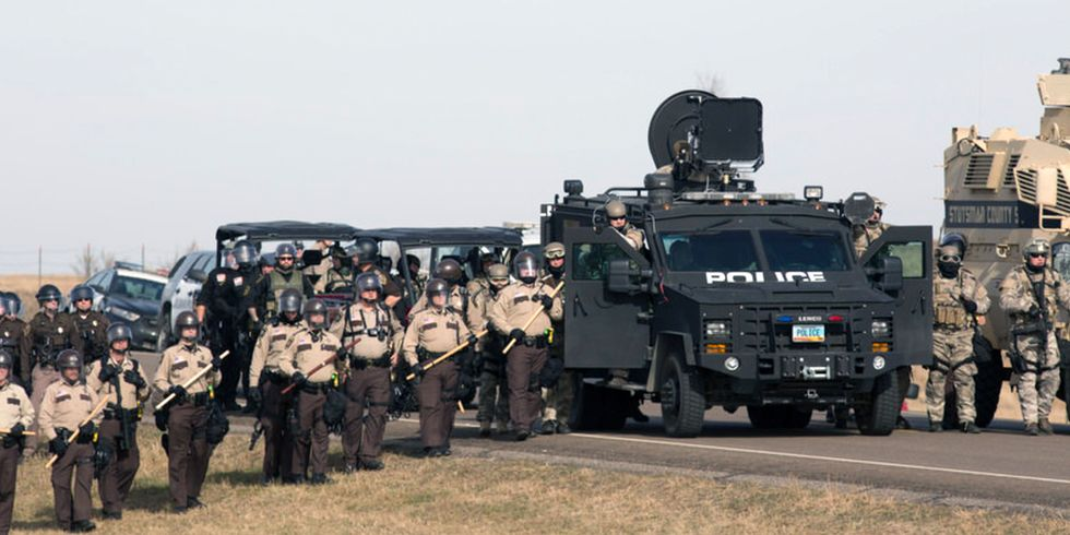 30 Powerful Photos Show Standoff Between Militarized Police and Dakota Access Pipeline Protestors