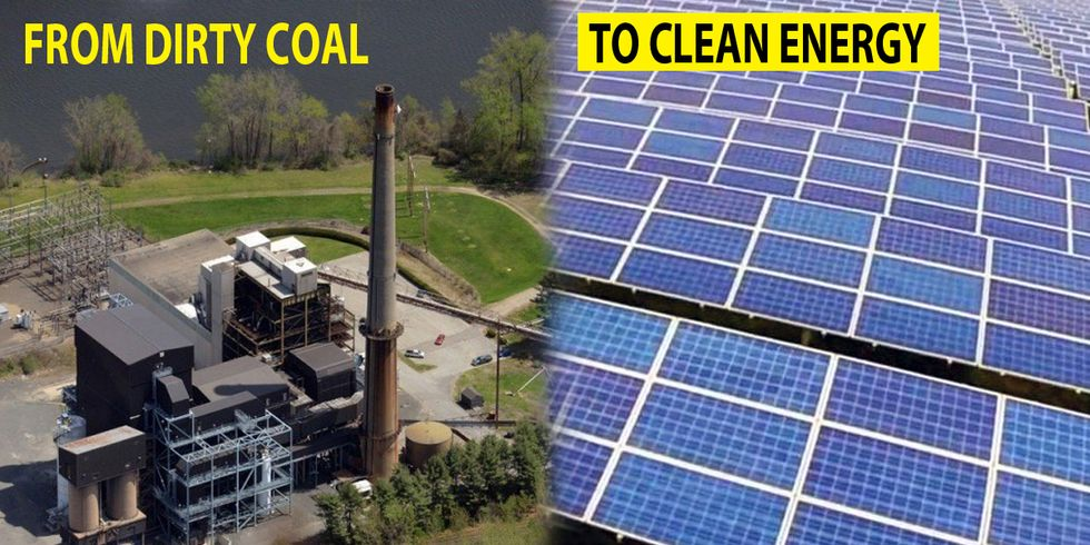 From Dirty Coal to Solar Farm, One of New England's Worst Polluters Makes the Switch