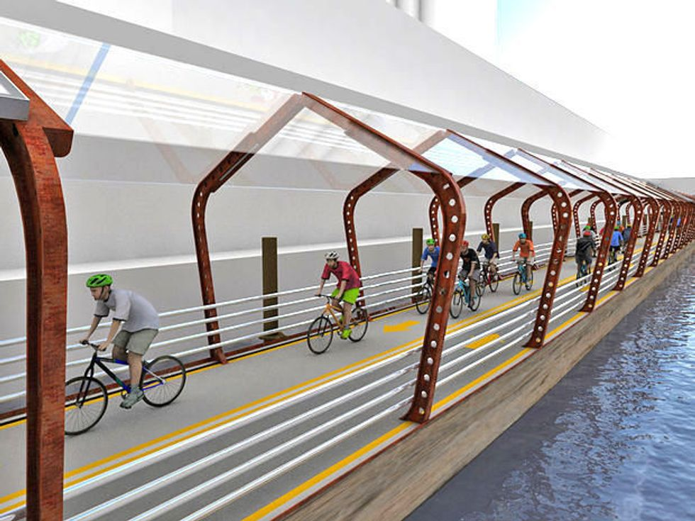 Solar-Powered Floating Bike Trail Could Light Up Chicago River