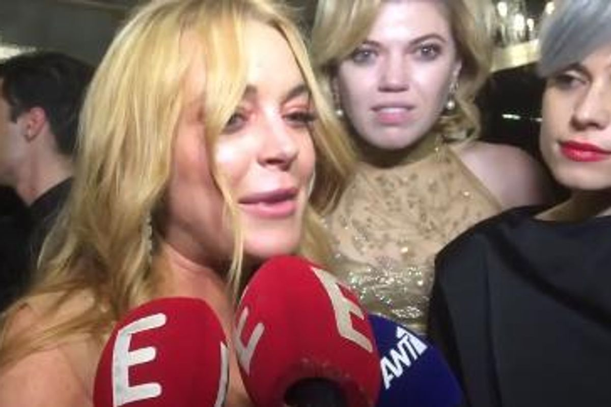 UPDATE: Lindsay Lohan Posts Snapchat Urging The World To Not Reflect On Her Strange and Glorious New Euro Trash Accent