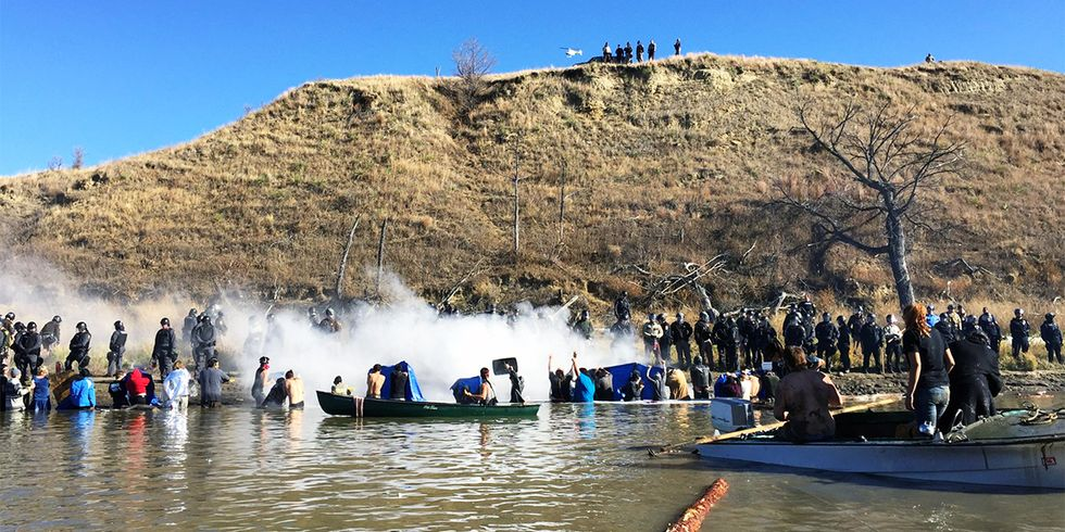 Dakota Access Pipeline Protesters Pepper Sprayed in Latest Standoff