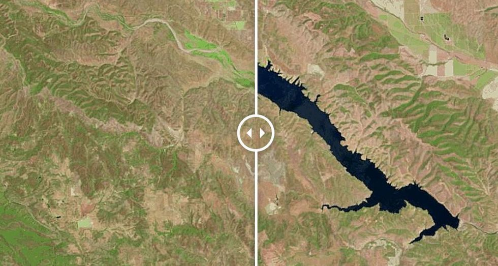 10 Satellite Images Show How California's Reservoirs Are Drying Up