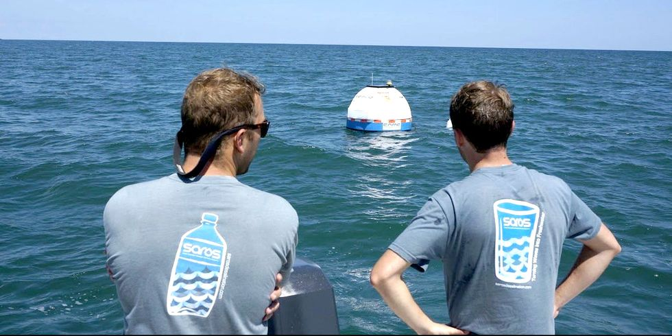World's First Wave-Powered Buoy Turns Seawater Into Drinking Water