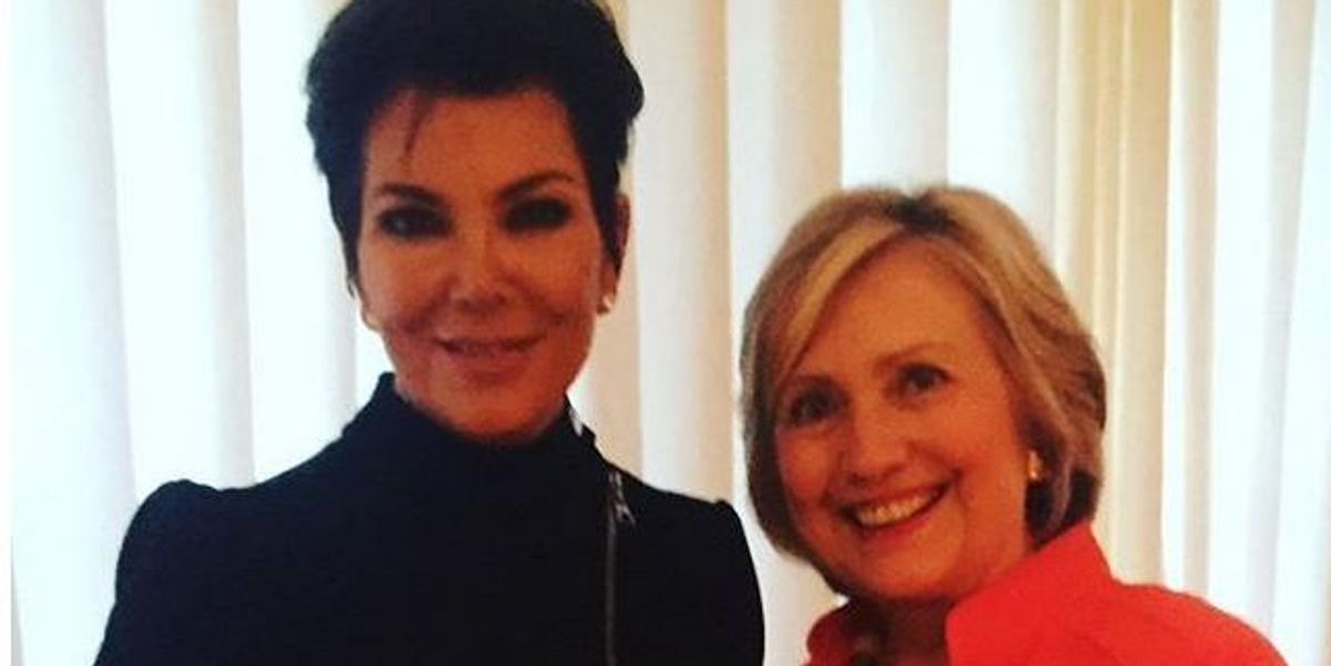 Kris Jenner and Offspring Pledge Allegiance To Hillary Clinton