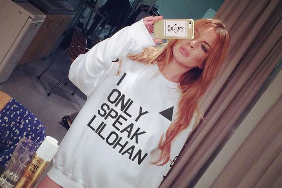 Lindsay Lohan Has Monetized Her New, Divinely Euro Trash Accent For Charity