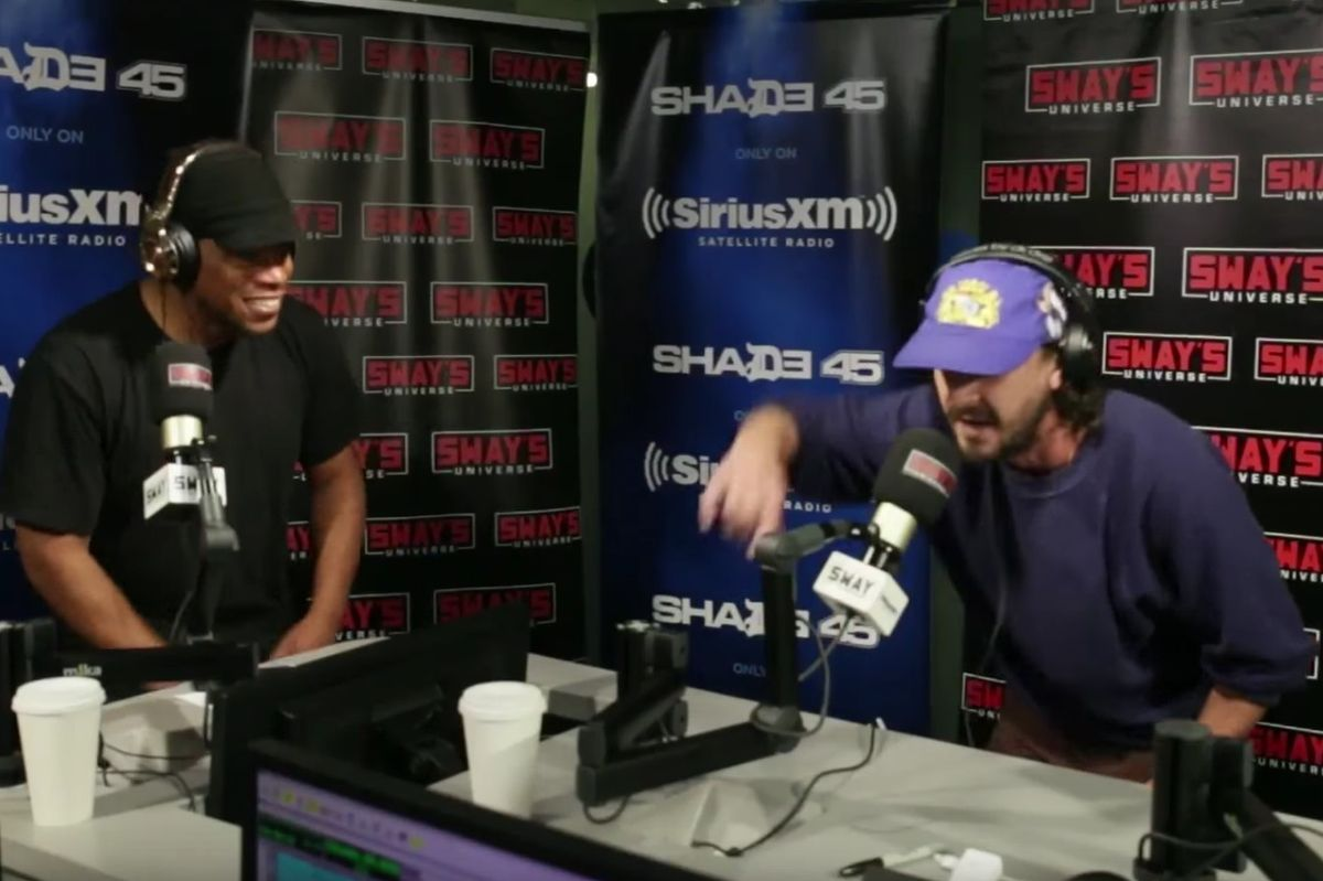 "Shia LaBeouf's Freestyle On ""Sway In The Morning"" Was... Fire?"