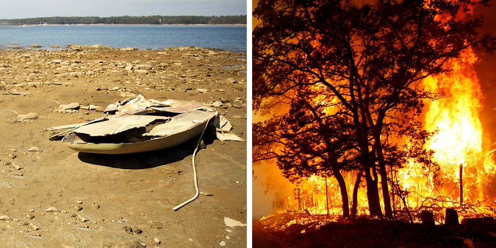 Record-Breaking Drought and Wildfires Plaque Southeast