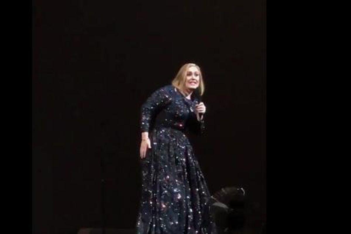 Watch Adele Thwart A Bat Attack On Stage