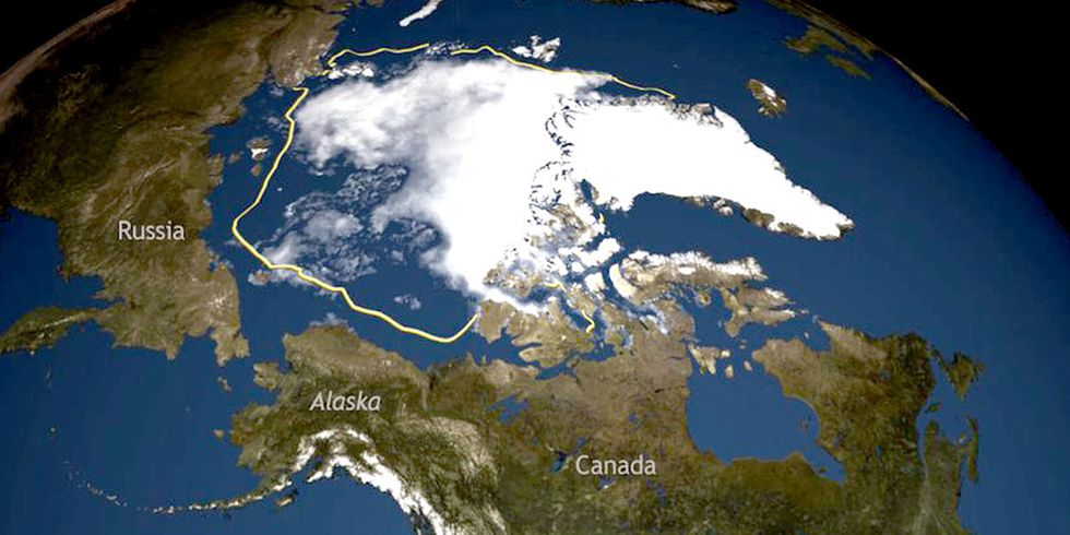 North Pole an Insane 36 Degrees Warmer Than Normal as Region Hits Record Low Sea Ice Extent