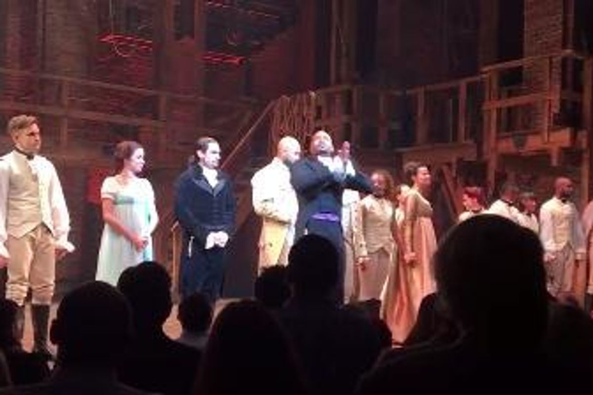 Watch The Cast Of Hamilton's Directly Address Mike Pence, Who Was In The Audience