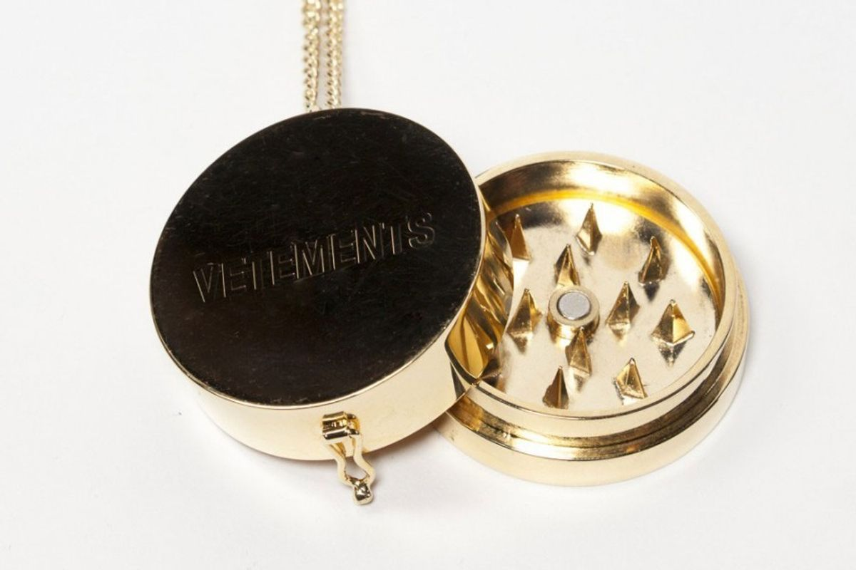 Vetements Made A Gilded Weed Grinder