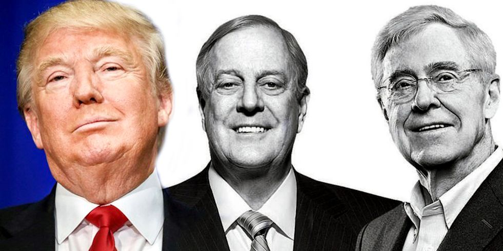 Does Trump Even Know the Koch Brothers Are Pulling His Strings?