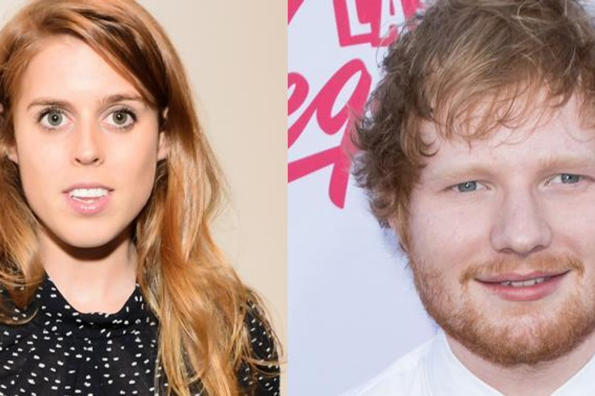 Ed Sheeran Got Slashed In The Face By Princess Beatrice As She Knighted James Blunt