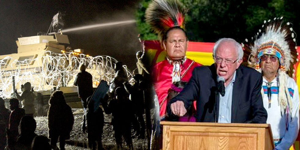Water Protectors Sue Police for Brutality + Bernie Sanders Speaks Out on Treaty Rights Violations