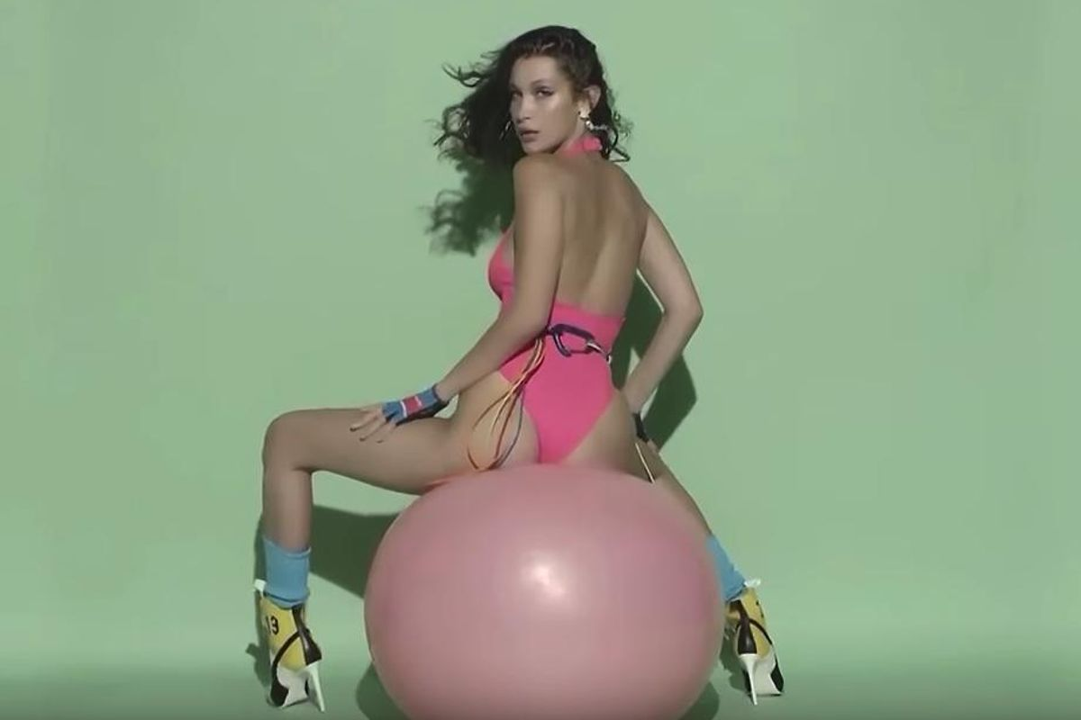 """Watch Bella Hadid Recreate Eric Prydz's Ass-Tastic 2004 """"Call On Me"""" Video"""