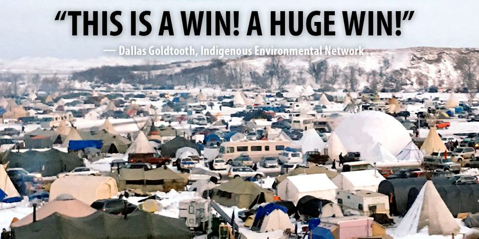 Standing Rock Celebrates as Army Corps Denies Key Permit, Halts Project