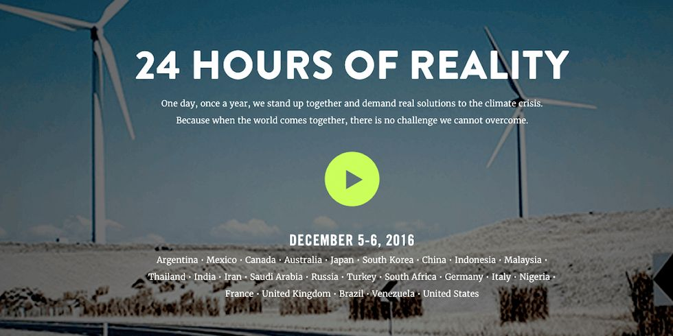 WATCH LIVE: Al Gore's 24 Hours of Reality, Starts at 6 PM EST