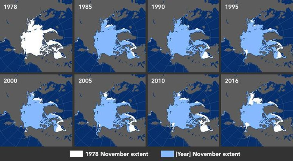 Polar Sea Ice the Size of India Vanishes in Record Heat, Scientists Say