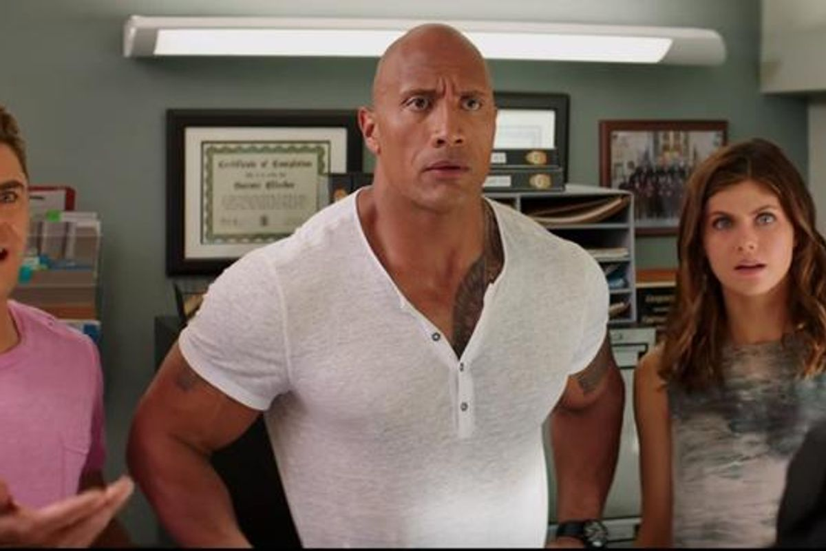 Watch The First Trailer For The New 'Baywatch' Movie, Starring The Rock & Zac Efron