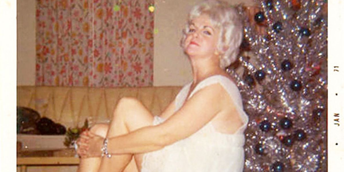 We're Obsessed With This Vintage Archive of Women in Front of Christmas Trees