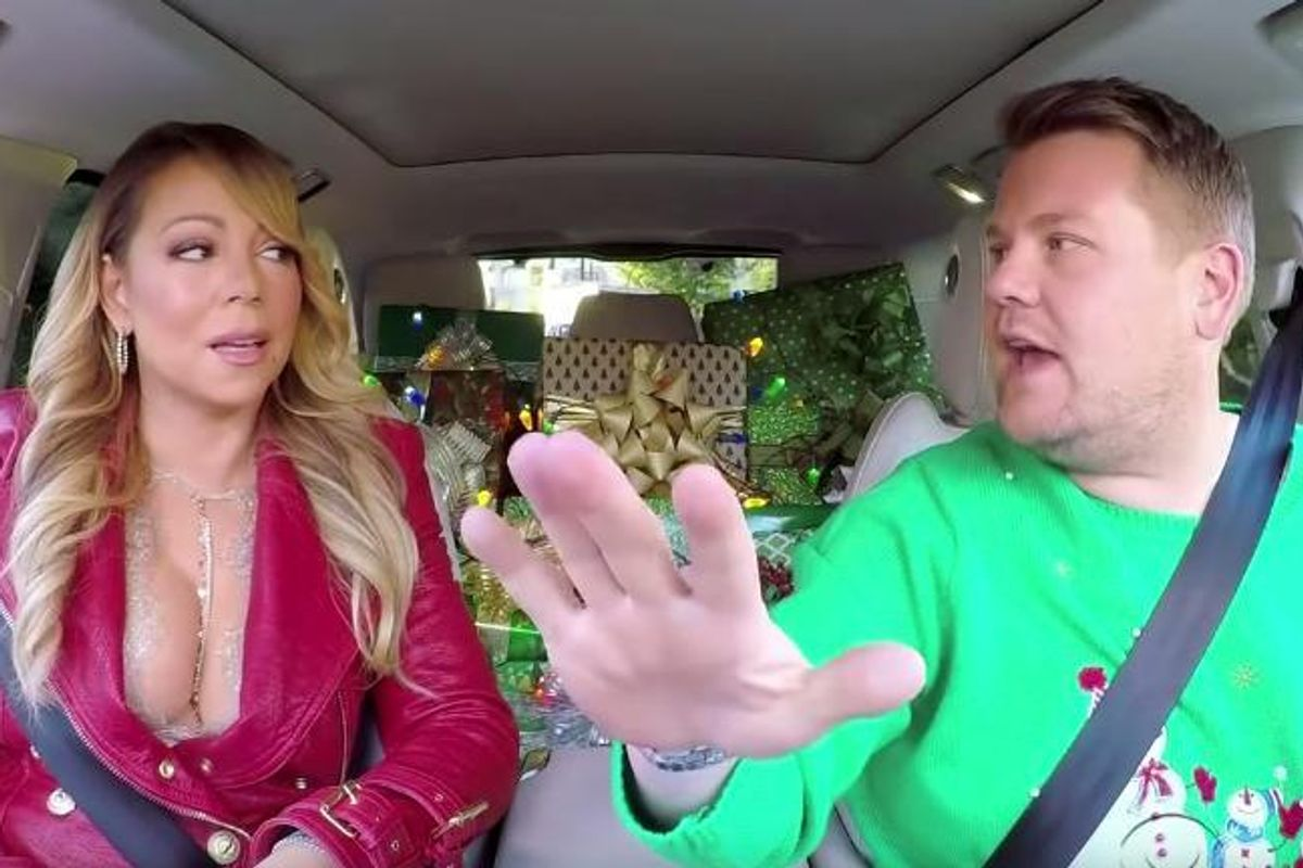 """Watch James Corden's Star-Filled Rendition of """"All I Want For Christmas Is You"""" On Carpool Karaoke"""