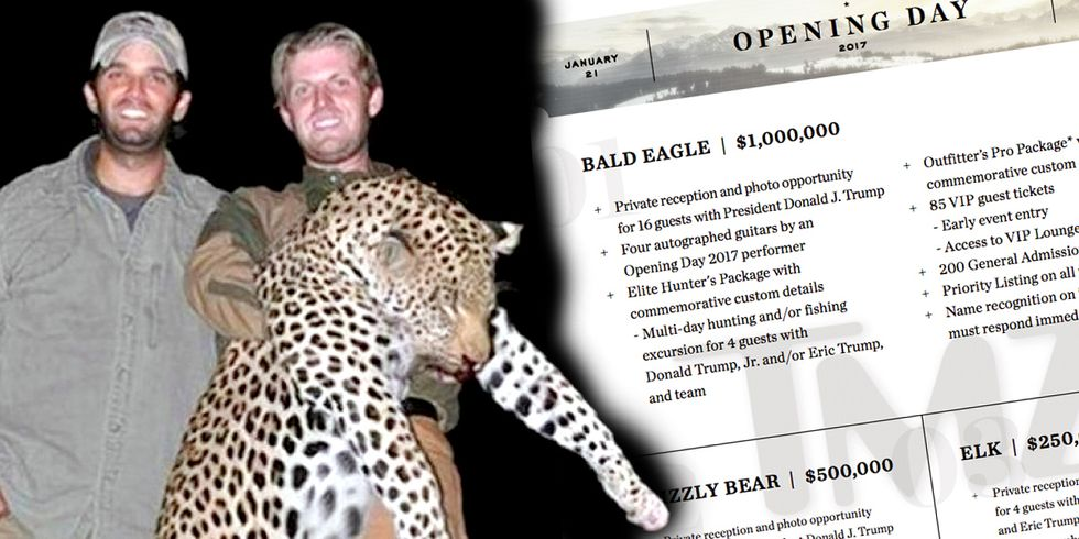Trump Sons Auctioning Off $1 Million Hunting Trip to Celebrate Inauguration