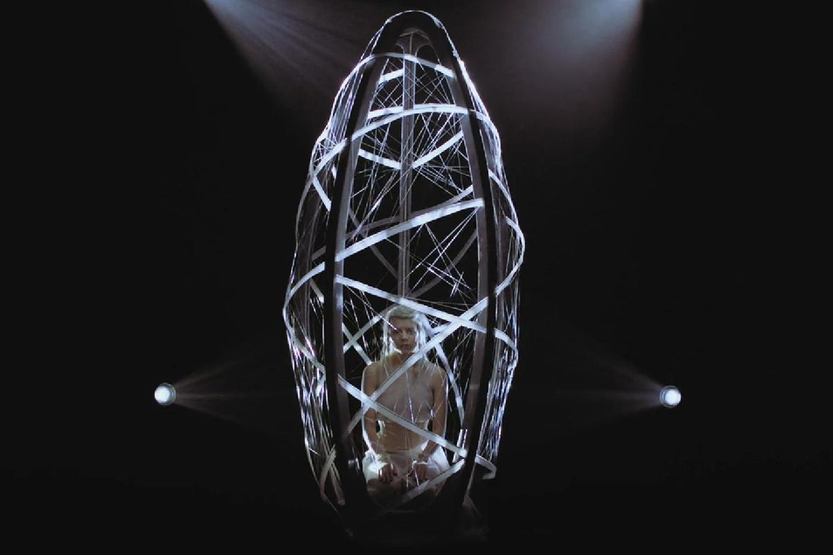 "AURORA's New Video ""Winter Bird"" Features a Cocoon Made By Drones"