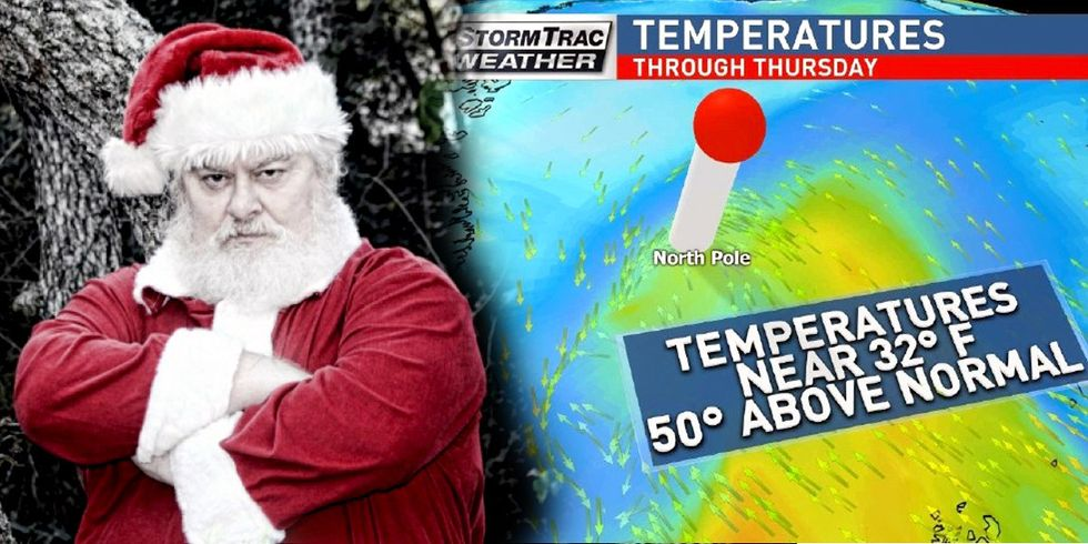 Sorry, Santa: North Pole Temps Could Climb 50 Degrees Above Normal