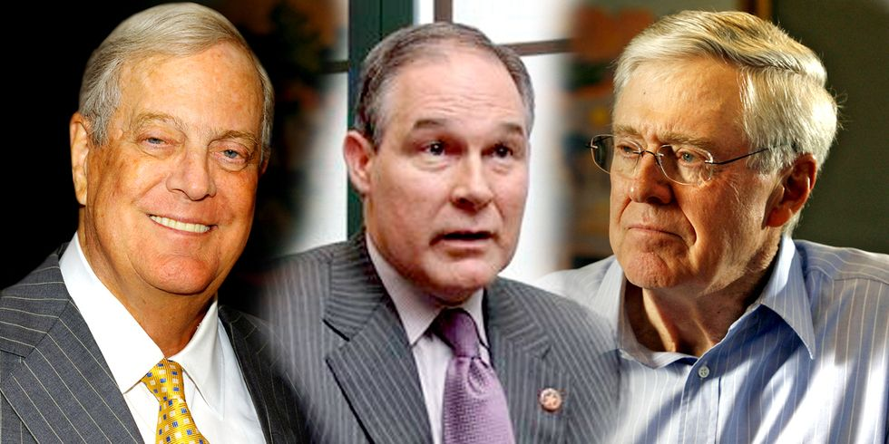 Trump's EPA Pick Rouses Suspicions Over Ties to Koch Brothers