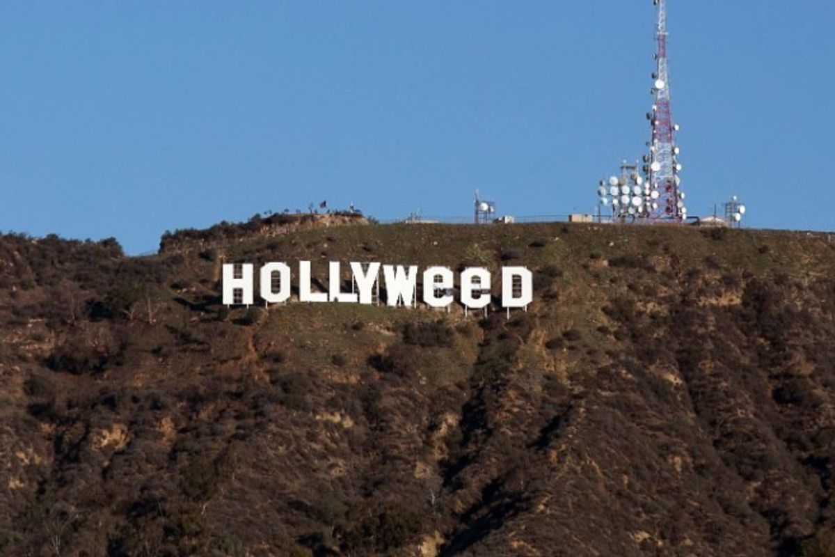 """The Hollywood Sign Was Altered to Read """"Hollyweed"""""""