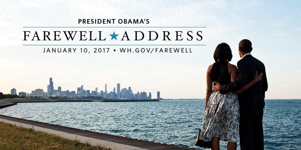 Reminder to Watch President Obama's Farewell Address Tonight [UPDATE]