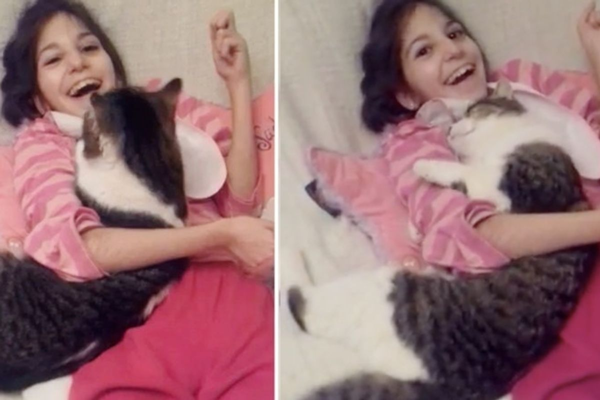 The Joy When Girl with Special Needs Cuddles Shelter Cat No One Else Wanted