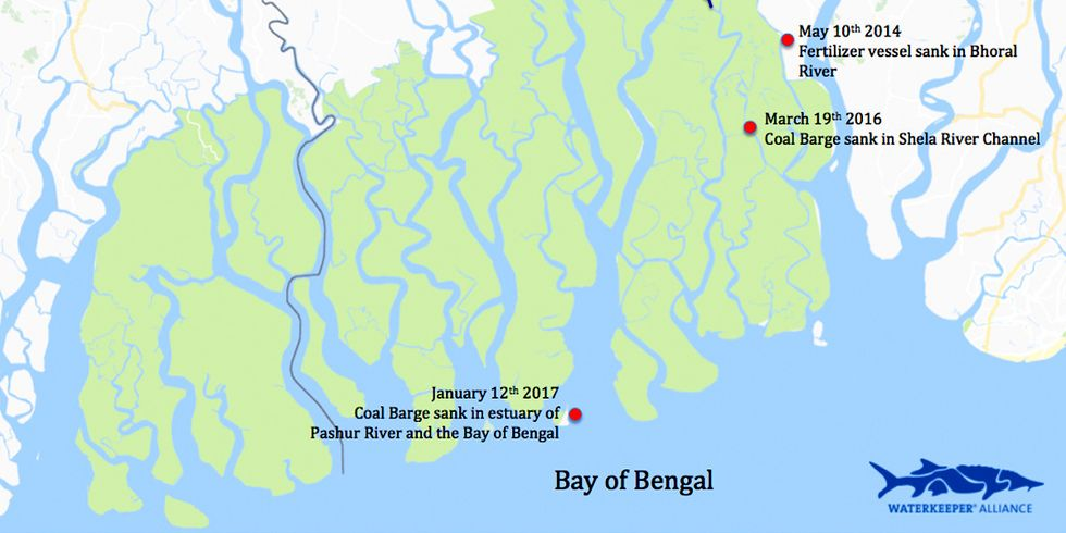 Another Coal Barge Sinks in the Sundarbans World Heritage Site