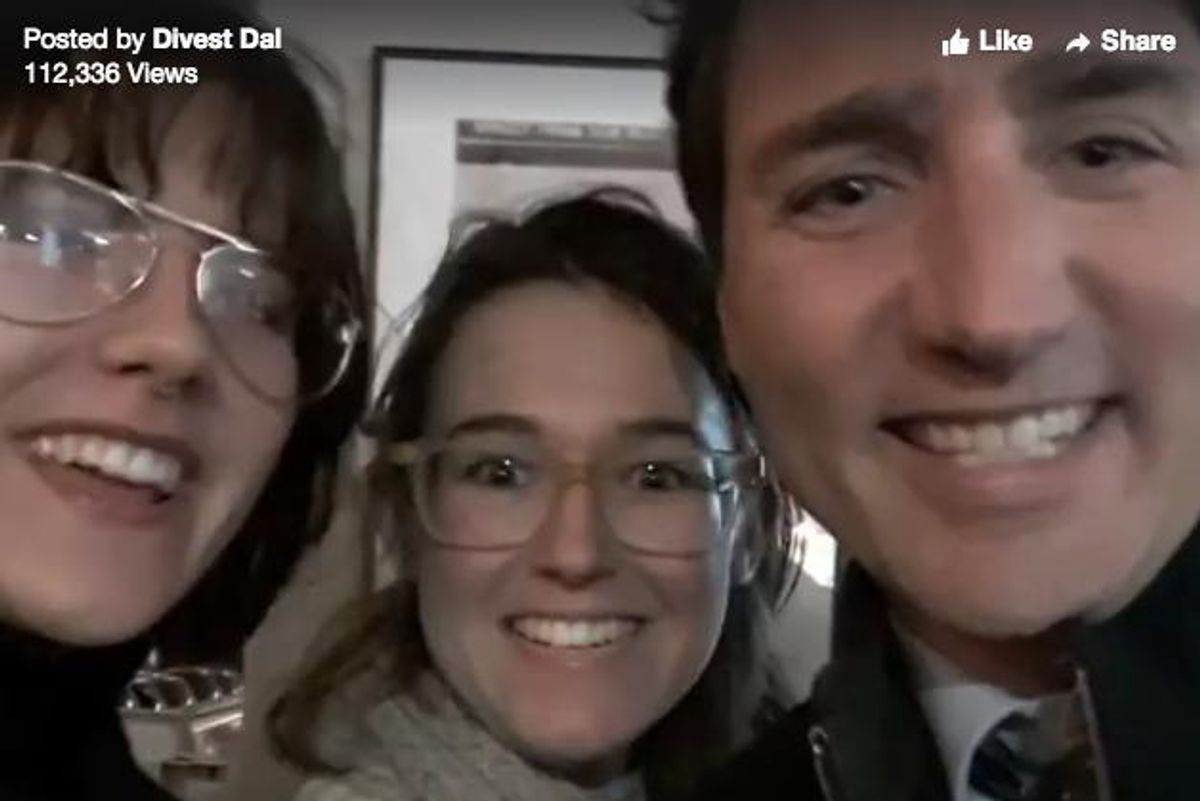Watch These Women Confront Prime Minister Trudeau About Indigenous Peoples' Rights Via A Selfie