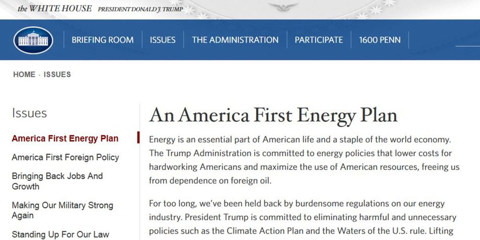 Climate Change Purged From White House Website