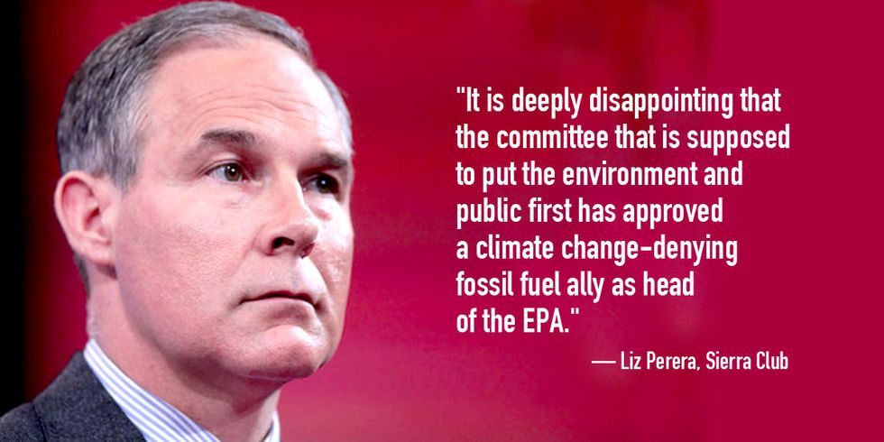 GOP's Move to Force Through Trump's EPA Pick Is 'Outrageous'