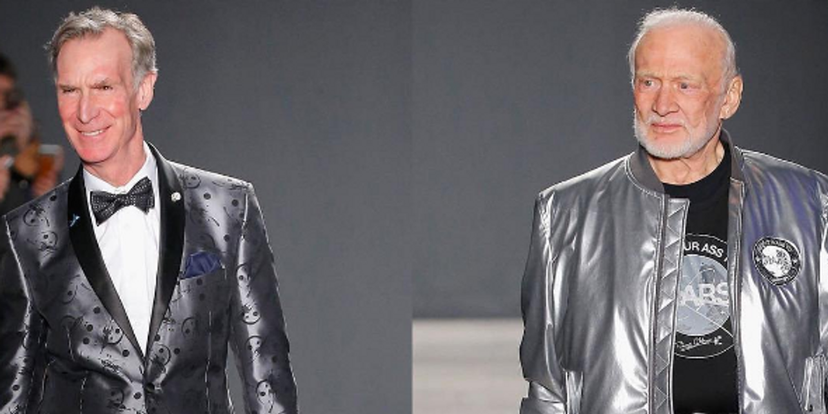 The Breakout Stars of NYFW: Men's Were Bill Nye And Buzz Aldrin
