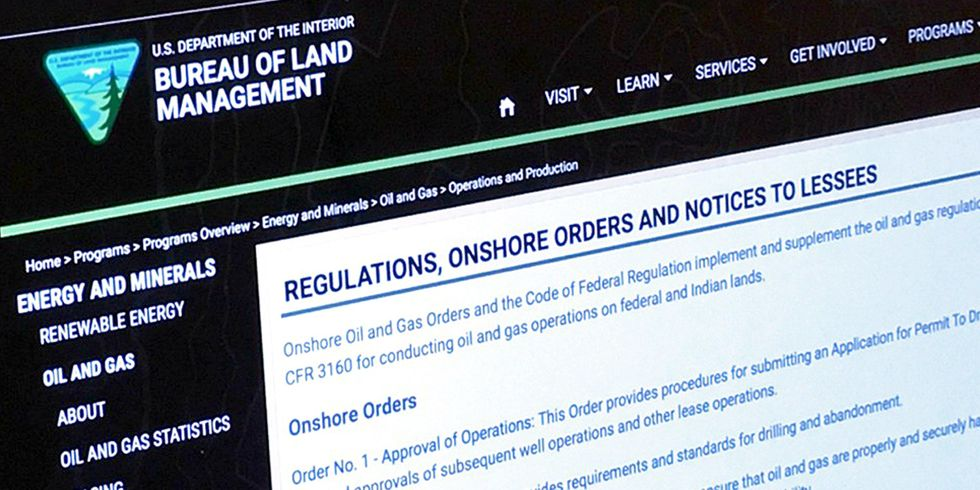 Fracking Rule Text Disappears From Interior Department Website