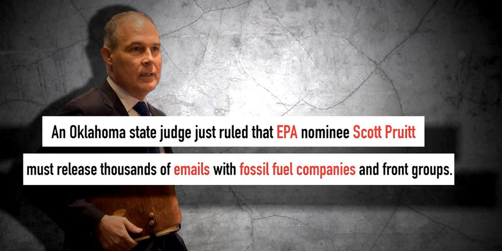 Judge Orders Trump's EPA Pick to Release Emails by Tuesday