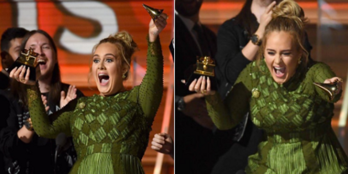 As Much As We All Wanted to Believe, Adele Did Not Break Her Trophy For Beyonce. Sorry.