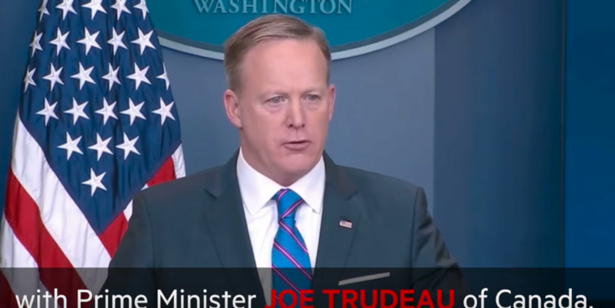 Sean Spicer Misnamed Justin Trudeau, Naturally Twitter Lost it